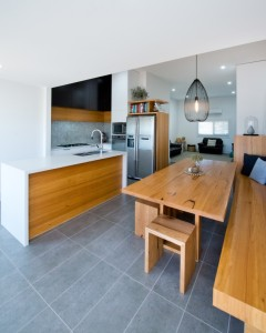 Scandi Kitchen with built in seating